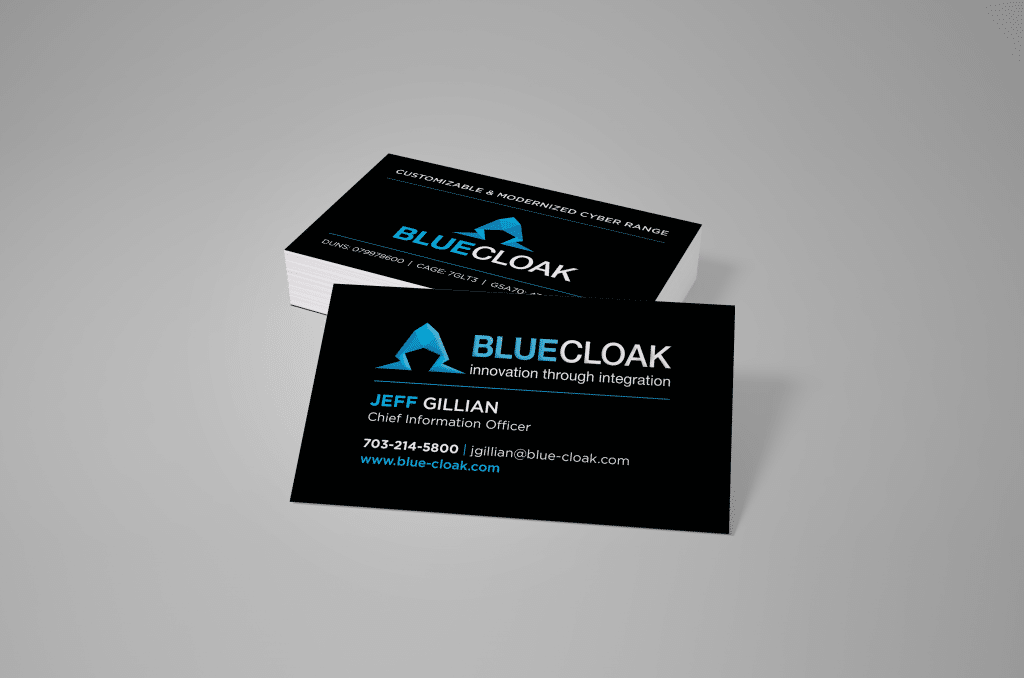 Business Card Design for a Cyber Security Group