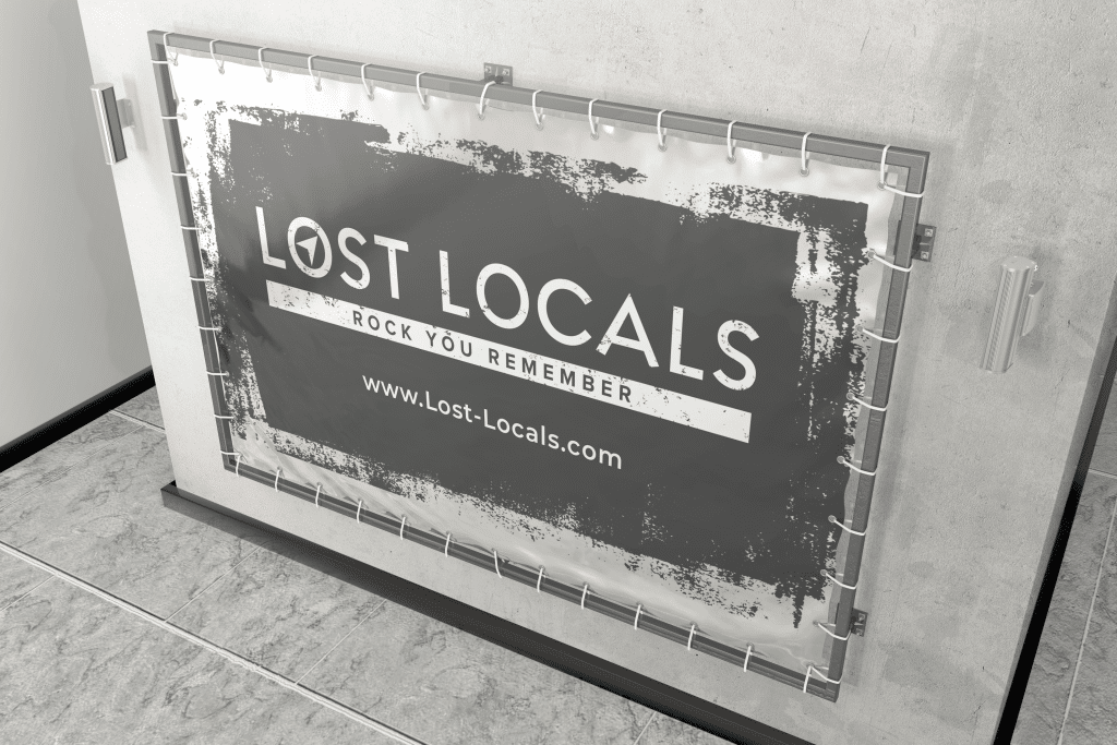 Banner for a Local Band