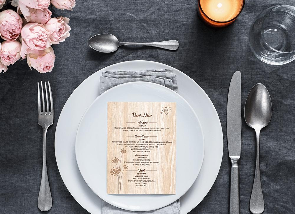 Wedding Menu and Program Design
